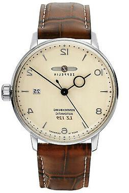 Zeppelin Men's Automatic Watch LZ129 Hindenburg Leather Band