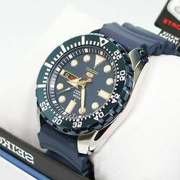 Seiko Men's Diver Automatic Blue Dial And Rubber Men's Watch