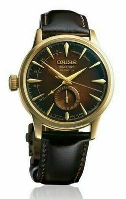 Seiko Men's Presage Cocktail Time Brown Leather Strap Automa