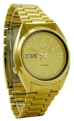 Seiko Men's SNXS80 Series 5 Gold Tone Automatic  Bracelet Wa