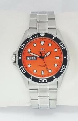 ORIENT Mens Divers Automatic Movt Ray Raven II Orange Dial N