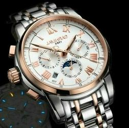 Carnival Mens Mechanical Automatic Watch Moonphase Multifunc