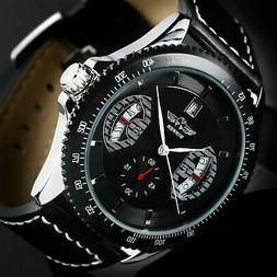 Mens Watch Automatic Mechanical Black Dial Stainless Steel C
