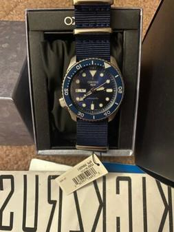 NEW Seiko 5 Sports SRPD51 Men's Automatic Day-Date 100M Blue