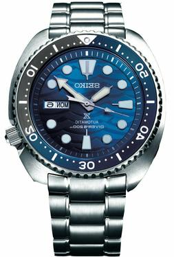 New Seiko Automatic Prospex Blue Wave Turtle Divers 200M Men