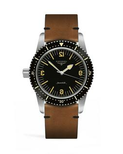 New Longines Automatic Skin Diver Leather Strap Men's Watch