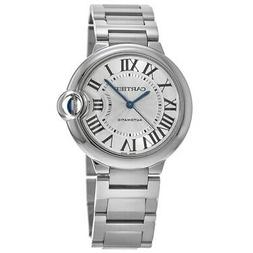New Cartier Ballon Bleu 36mm Automatic Silver Dial Women's W