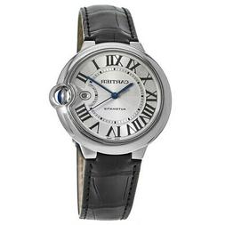 New Cartier Ballon Bleu 42mm Automatic Leather Strap Men's W