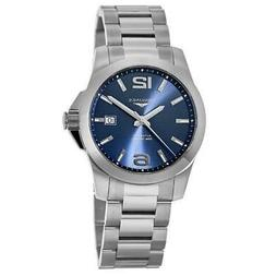 New Longines Conquest Automatic Blue Dial Stainless Men's Wa