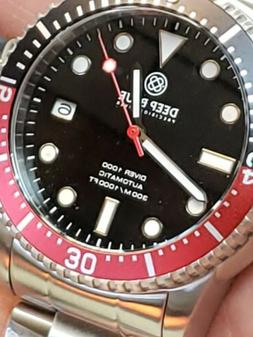 NEW DEEP BLUE 40mm  MASTER 1000/300mm AUTOMATIC RED/BLACK/ B