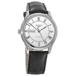 New Longines Flagship Automatic White Dial Black Men's Watch