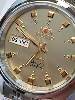 NEW-ORIENT 3 STAR MAN AUTOMATIC 21 JEWELS SUN-WAVE DIAL