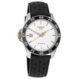 New Tissot V8 Automatic Silver Dial Black Men's Watch T106.4