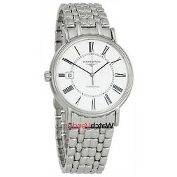 presence automatic white dial men s watch