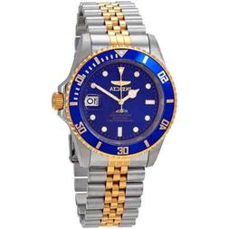 Invicta Pro Diver Automatic Blue Dial Two Tone Stainless Ste