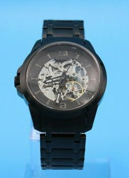 Relic By Fossil Mens Automatic Black Stainless Steel Watch Z