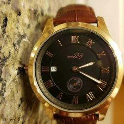 Rose gold watch men automatic
