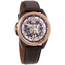Bulova® Men's Rose Goldtone & Brown Leather Automatic Wa