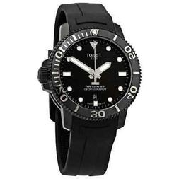 Tissot Seastar 1000 Black Dial Automatic Men's Rubber Watch