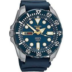 Seiko Diver Automatic Blue Dial Blue Rubber Mens Watch SRP60