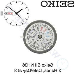 GENUINE Seiko  NH36 NH36A Automatic Watch Movement - White D