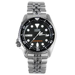 skx013 automatic black dial stainless steel 200m