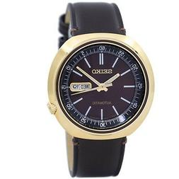 Seiko SRPC16 J1 Gold with Brown Dial Leather Strap Men's Aut