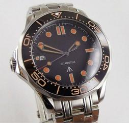 """Bliger Sterile Dial """"Seamaster 007"""" homage automatic watch b"""
