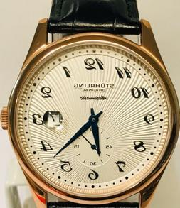 Stuhrling Rose Gold Bezel / White Dial w/Date Automatic Mens