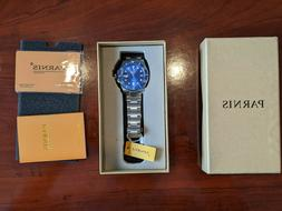 PARNIS SUBMARINE 04 MENS DIVER BLUE STAINLESS AUTOMATIC WATC