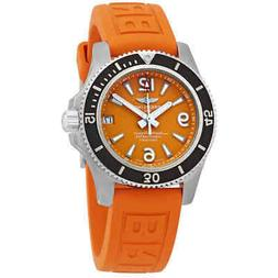 Breitling Superocean 36 Automatic Orange Dial Men's Watch A1