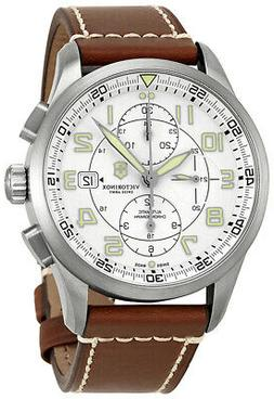 Swiss Army Airboss Mechanical Automatic Chronograph Steel Me