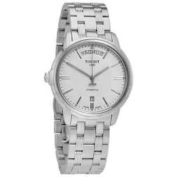 t classic automatic iii day date white