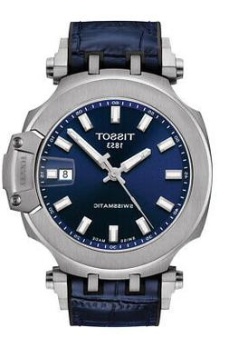 t race swissmatic automatic blue dial men