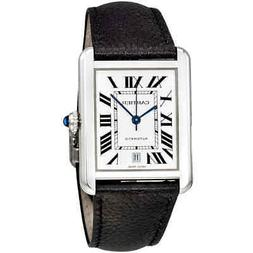 Cartier Tank Solo XL Automatic Silver Dial Men's Watch WSTA0