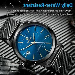 TEVISE Gold Automatic Mechanical Men Watch Water-Proof Man W