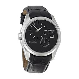 Tissot Men's T0354281605100 Couturier Automatic Black Leathe