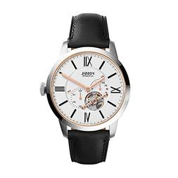 Fossil Men's Townsman ME3104 Silver Leather Automatic Watch