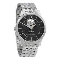 tradition automatic black dial men s watch