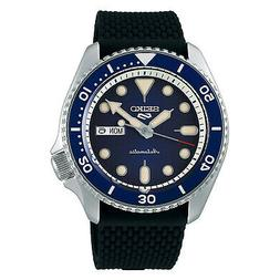 Watch Seiko 5 Sport Automatic Blue Dial Silicone Strap SRPD7