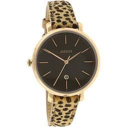 Fossil Women's Jacqueline ES4681 Black Leather Automatic Sel