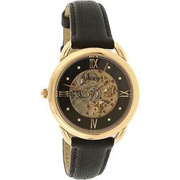 Fossil Women's Tailor ME3164 Black Leather Automatic Self Wi